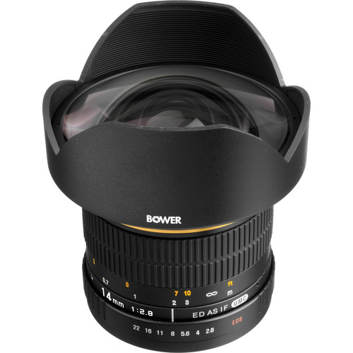 Bower 14mm f/2.8 Ultra Wide Angle Manual Focus Lens for Canon EOS Digital SLR Cameras
