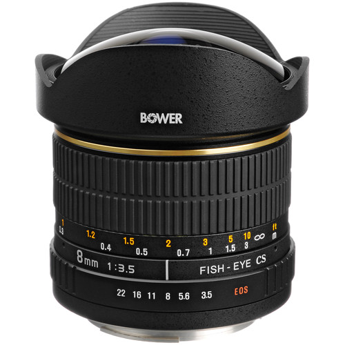 Bower SLY 358C 8mm f/3.5 Fisheye Lens for Canon APS-C EOS Cameras