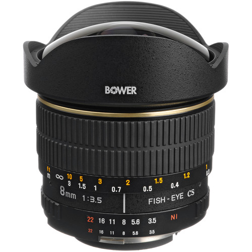 Bower SLY 358N 8mm f/3.5 Fisheye Lens for Nikon APS-C Cameras