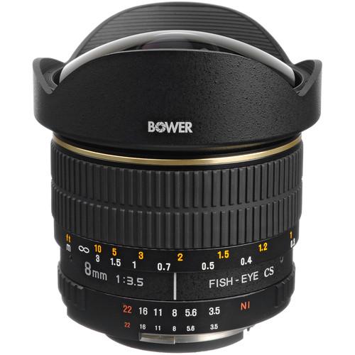 Bower SLY 358N 8mm f/3.5 Fisheye Lens for Nikon APS-C Cameras