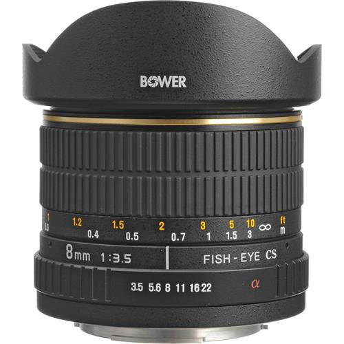 Bower SLY 358S 8mm f/3.5 Fisheye Lens for Sony / Minolta APS-C Cameras