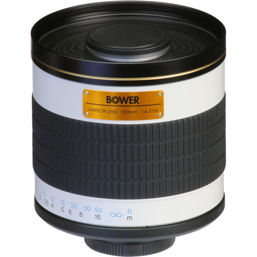 Bower 500mm f/6.3 Manual Focus Telephoto T-Mount Lens