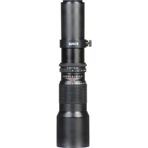 Bower 500mm f/8 Preset Lens With T-Mount Adapter For Canon EF