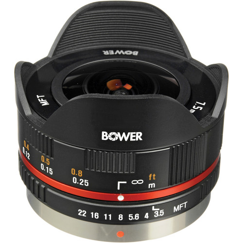 Bower 7.5mm f/3.5 Fisheye Lens for Micro 4/3 Cameras (Black)