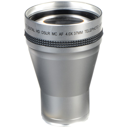 Bower VL437 4.0x High Power Telephoto Lens (37mm Thread, Silver)
