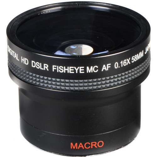 Bower VLB1658 0.16x Ultra-Wide Fisheye Lens (58mm Thread, Black)