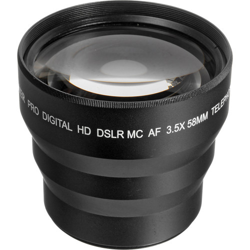 Bower VLB3558 3.5x Telephoto Conversion Lens (58mm Thread, Black)