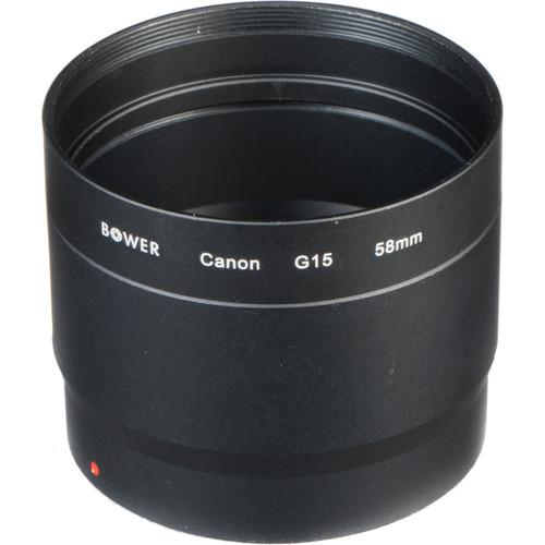 Bower Adapter Tube for Canon G15 & G16 Digital Cameras - 58mm