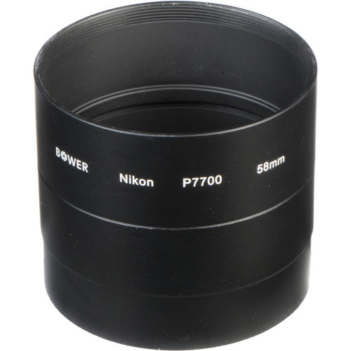 Bower 58mm Adapter Tube for Nikon COOLPIX P7700 Digital Camera