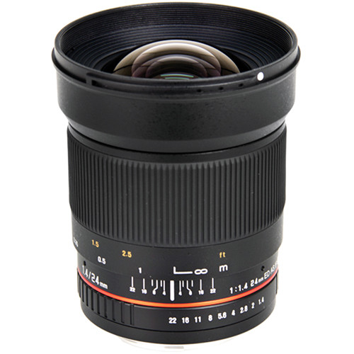 Bower 24mm f/1.4 Wide-Angle Lens for Samsung NX Mount Cameras