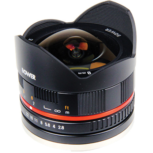 Bower 8mm f/2.8 Ultra Compact Fisheye Lens for Fujifilm X Mount (Black)
