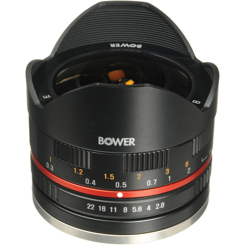 Bower 8mm f/2.8 Ultra Compact Fisheye Lens for Sony E Mount (Black)