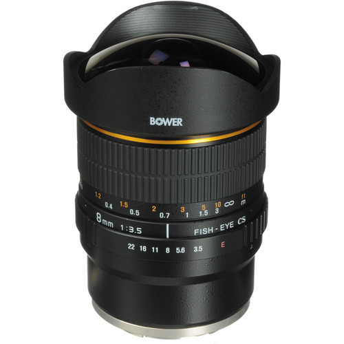 Bower 8mm f/3.5 Super Wide Angle Fisheye Lens for Sony E-mount Cameras