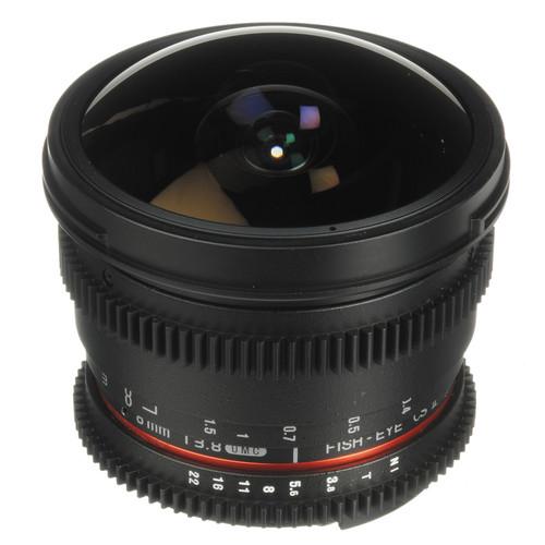 Bower 8mm T/3.8 Fisheye HD Cine Lens for Nikon DSLR Mount