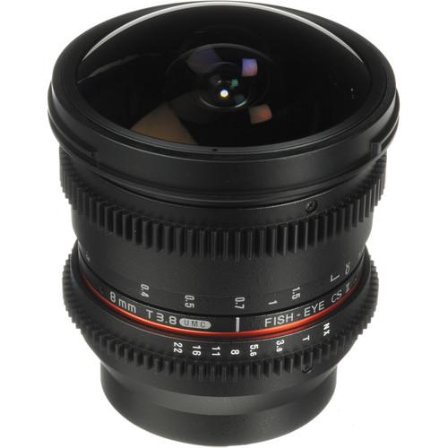 Bower 8mm T/3.8 Fisheye HD Cine Lens for Samsung NX Mount