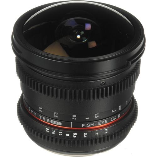 Bower 8mm T/3.8 Fisheye HD Cine Lens for Olympus Four-Thirds DSLR Mount