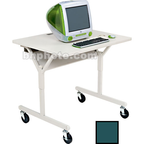 Bretford Connections Adult Height-Adjustable Work Center (Polo Green Trim)