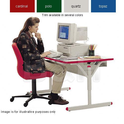 Bretford Connections Adult Height-Adjustable Work Center (Quartz Grey Trim)