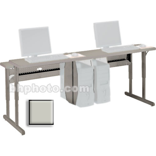 "Bretford 36 x 30"" Connections Flat Screen Work Center (Quartz Grey Trim)"