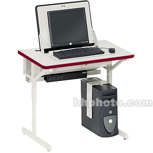 "Bretford 36 x 24"" SmartDeck Work Center (Cardinal Red Trim)"