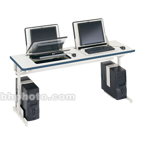 "Bretford 72 x 24"" SmartDeck Work Center (Topaz Blue Trim)"