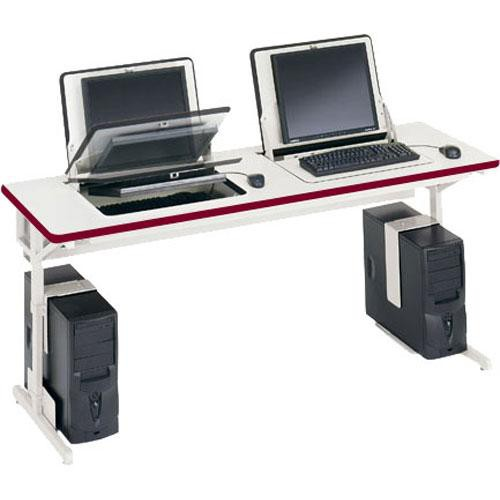 "Bretford 66 x 24"" SmartDeck Work Center (Cardinal Red Trim)"