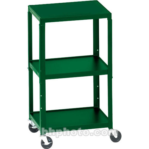 Bretford Adjustable AV Cart with 3 Shelves and 2-outlet Electrical Unit (Polo)