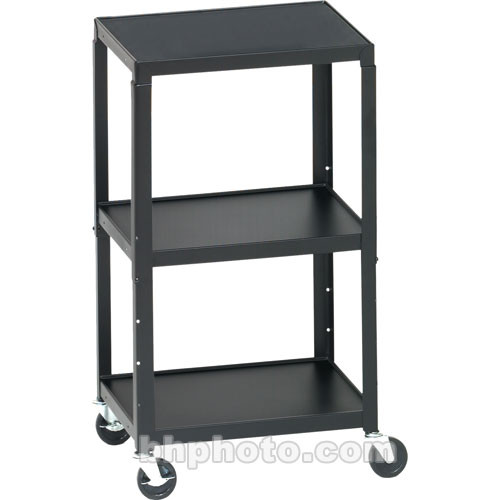"Bretford Adjustable AV Cart with 4"" Casters (Black)"
