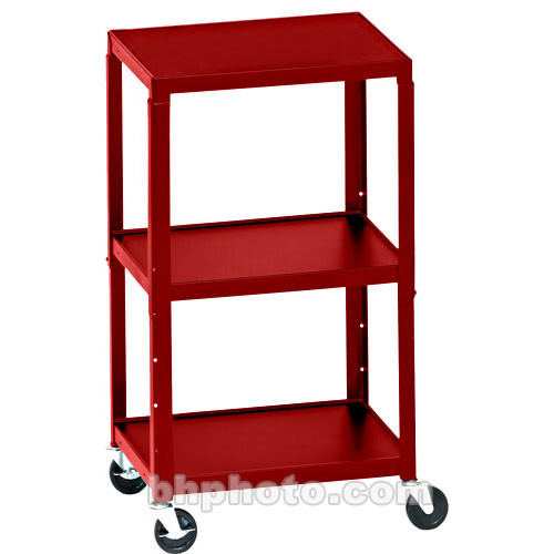 "Bretford Adjustable AV Cart with 4"" Casters (Cardinal)"