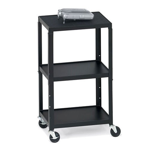 "Bretford Adjustable AV Cart with 5"" Casters (Black)"
