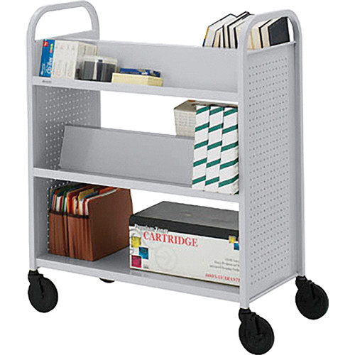Bretford BOOVF21 Double Sided Book Truck (Aluminum Finish)