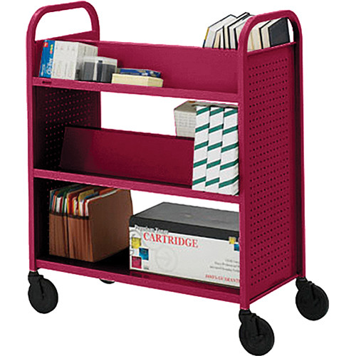 Bretford BOOVF21 Double Sided Book Truck (Cardinal Finish)