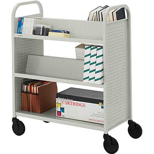 Bretford BOOVF21 Double Sided Book Truck (Gray Mist Finish)