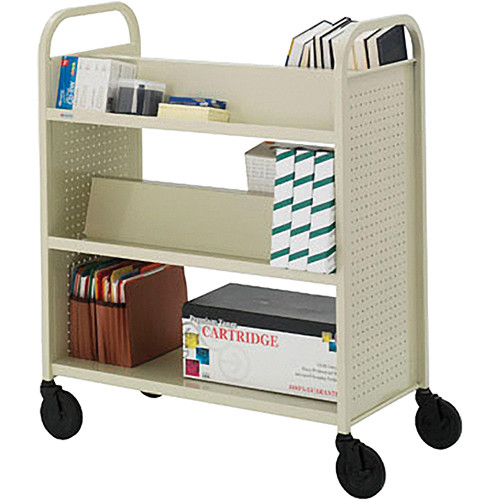 Bretford BOOVF21 Double Sided Book Truck (Putty Beige Finish)