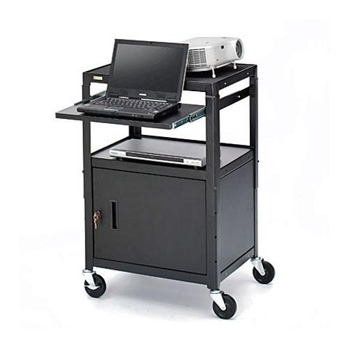 """Bretford Adjustable Cabinet Cart with 4"""" Casters"""