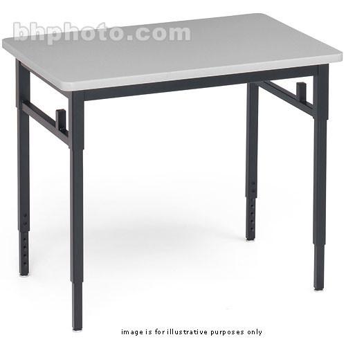 "Bretford Quattro Student Classroom Desk-30 x 24 x 24-32""(Grey Mist with Black Base)"