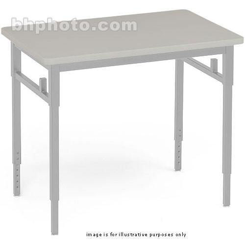 "Bretford Quattro Student Classroom Desk-30 x 24 x 24-32""(Grey Mist )"