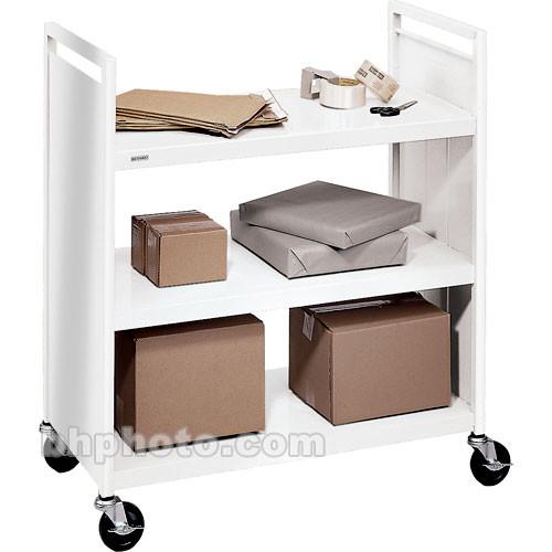 "Bretford 3-Shelf Booktruck with 4"" Casters (Aluminum)"
