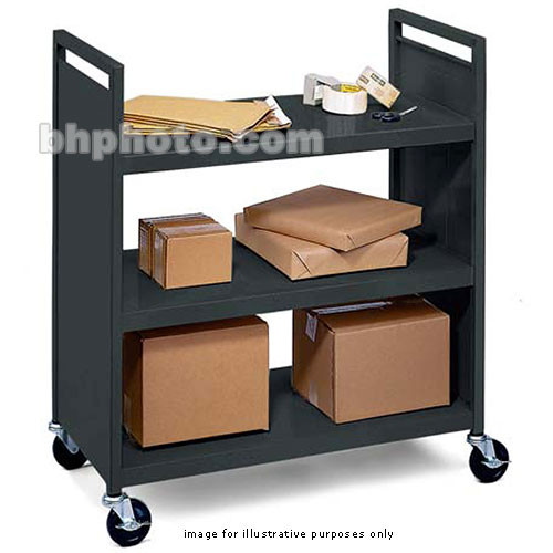Bretford Mobile Flat Shelf Book & Utility Truck (Anthracite)
