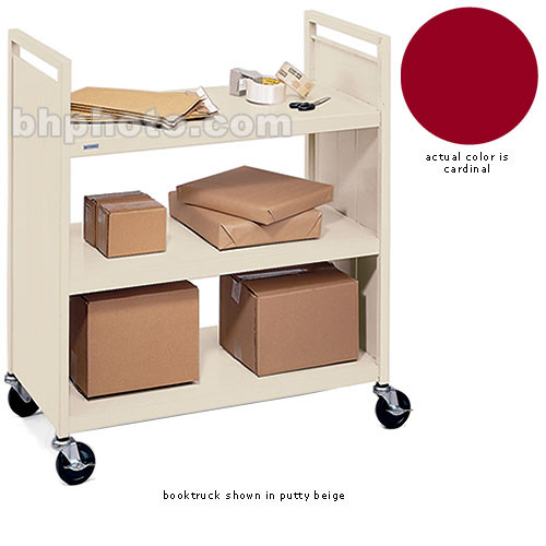 Bretford Mobile Flat Shelf Book & Utility Truck (Cardinal)