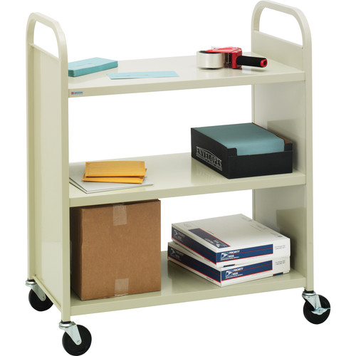 Bretford Mobile Flat Shelf Book & Utility Truck (Grey Mist)