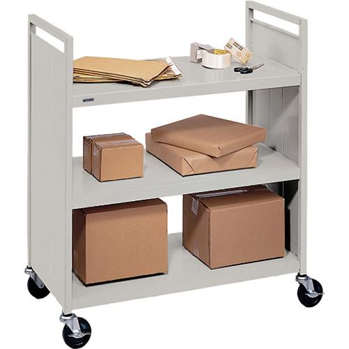 Bretford Mobile Flat Shelf Book & Utility Truck (Grey Mist)
