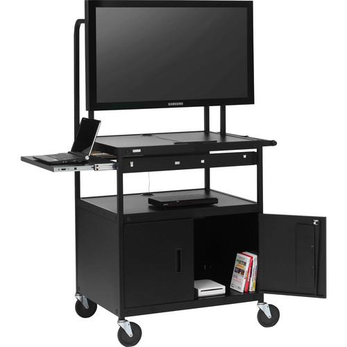 Bretford FP42MULC-P5BK Flat Panel Cabinet Cart