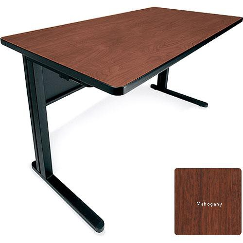 Bretford KR3060-RNRM KR Rectangular Training Table (Mahogany with Raven Base)