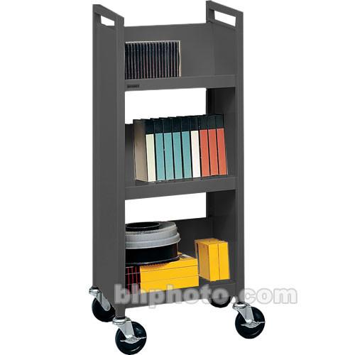 Bretford Mobile Utility Truck (17 x 13 x 42) w/ 3 Slant Shelves - Raven