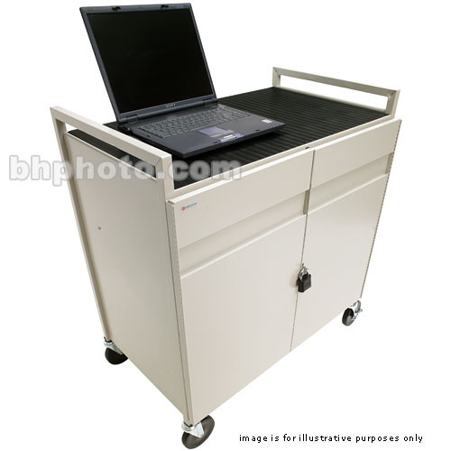 Bretford LAPTG15SA-GM 15 Unit Laptop Cart (Grey Powder Mist)