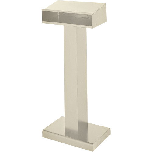 Bretford Floor Lectern w/ Shelf - Putty Beige