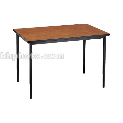 "Bretford 36 x 24"" Quattro Work & Utility Table - Black w/ Cherry"