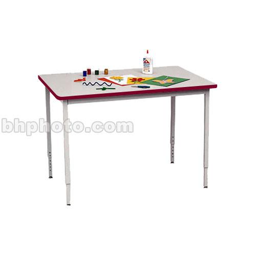 """Bretford 36 x 24"""" Quattro Work & Utility Table - Grey w/ Cardinal"""