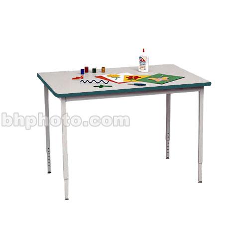 "Bretford 36 x 24"" Quattro Work & Utility Table - Grey w/ Polo"